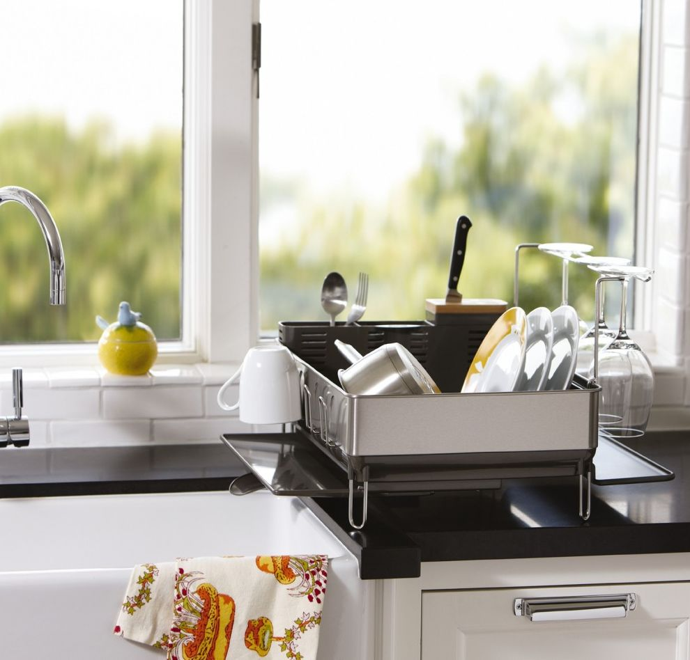 Modern Dish Racks And Built In Cabinet Dish Dryers Design: Clever Designs That Reinvent The Humble Dish Drying Rack