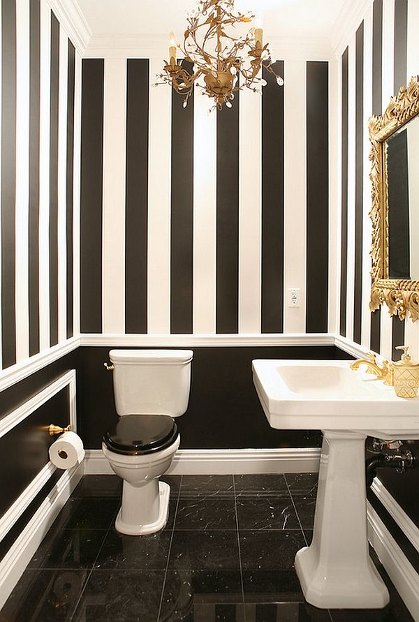 black and grey - Small Bathroom Design Ideas Color Schemes