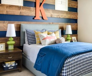 Beau Bedroom Headboard Accent Wall.