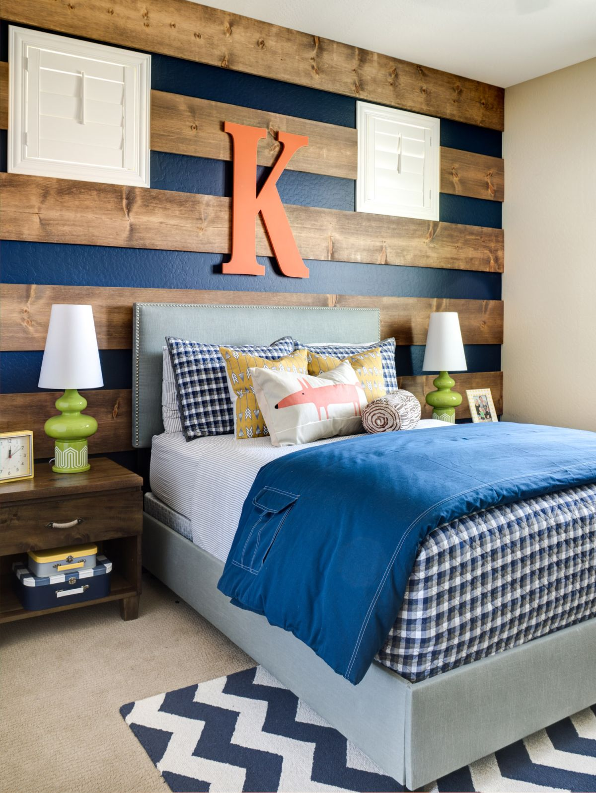 Striped Wood Accent Wall