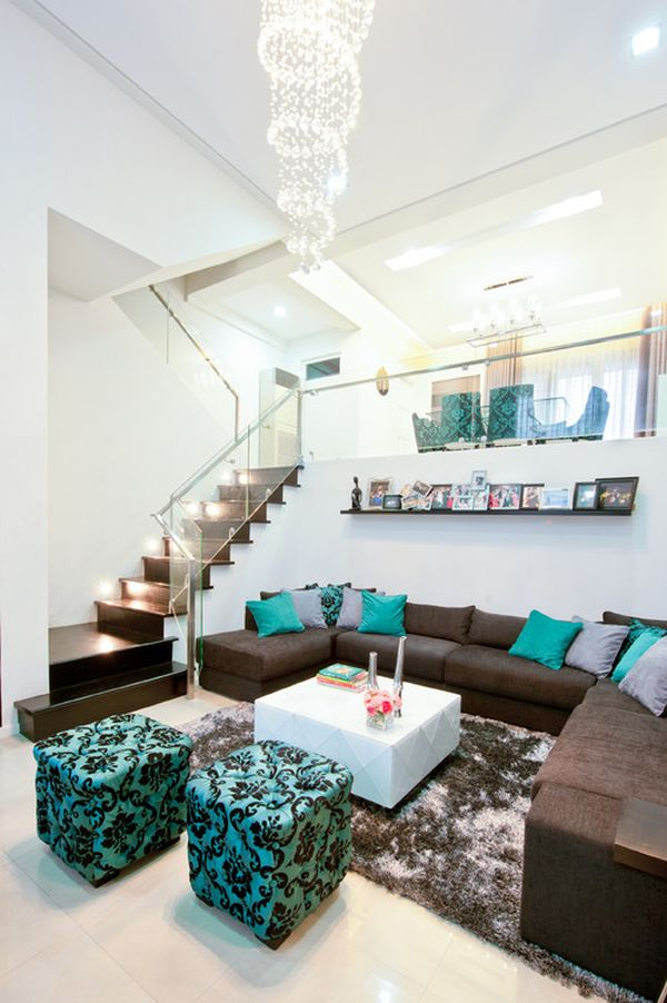Brown And Teal Living Room Ideas 7 Turquoise