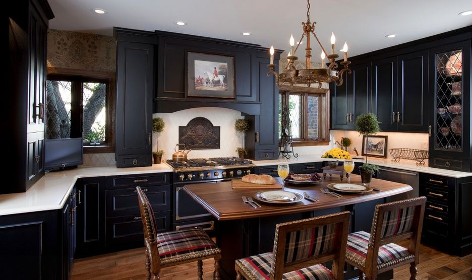 Kitchens With Black Cabinets Endearing One Color Fits Most Black Kitchen Cabinets Decorating Inspiration