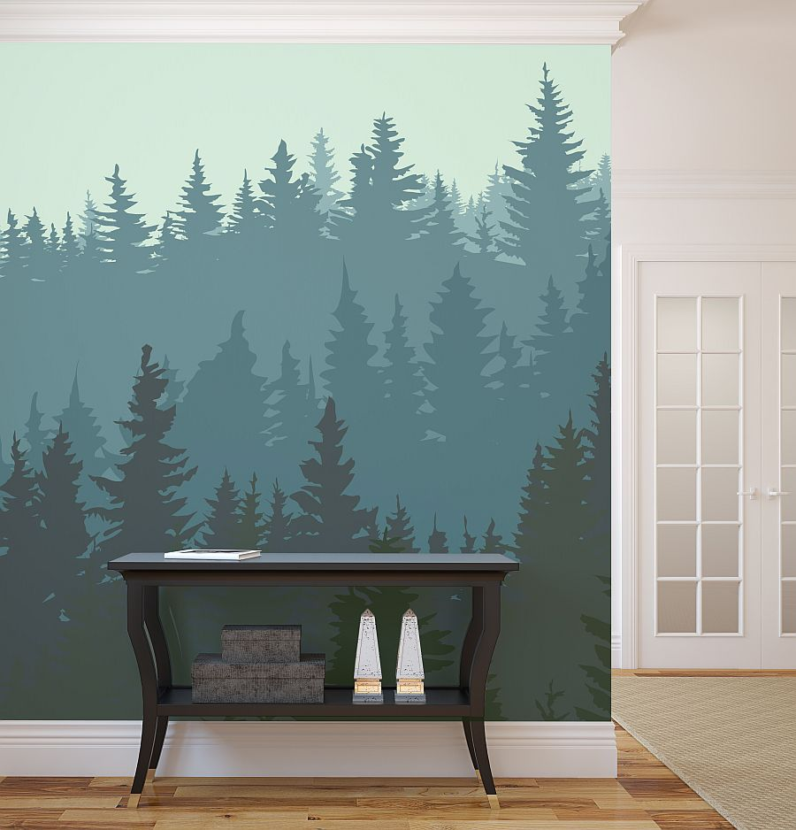wall mural accent wall - Accent Wall Design Ideas