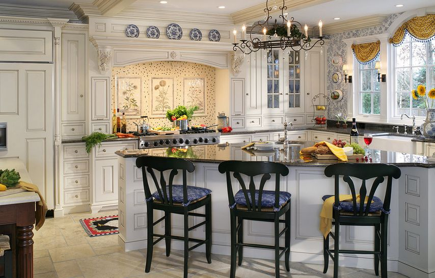 20 Ways to Create a French Country Kitchen : white traditional french country from www.homedit.com size 854 x 546 jpeg 105kB