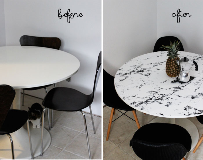 Delicieux 10 Interesting Makeovers You Can Do With Marble Contact Paper