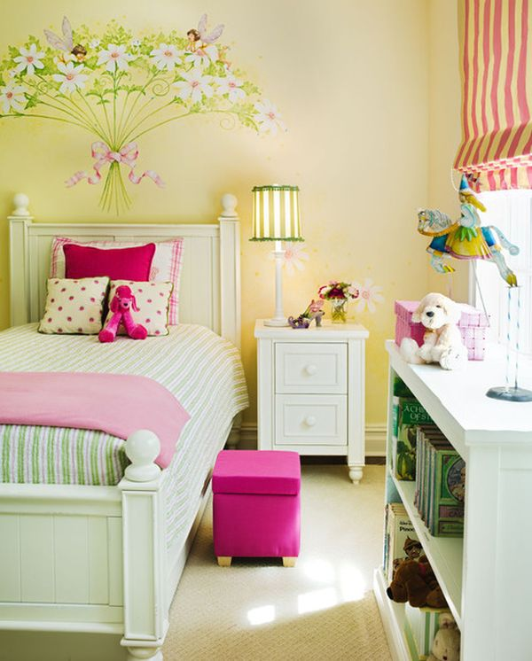 Cute bedroom design ideas for kids and playful spirits for Pastel pink and yellow bedroom