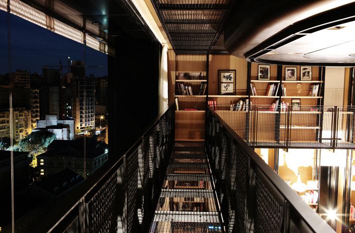 1-N-B-K-Residence-Beirut-Lebanon-library-bridge
