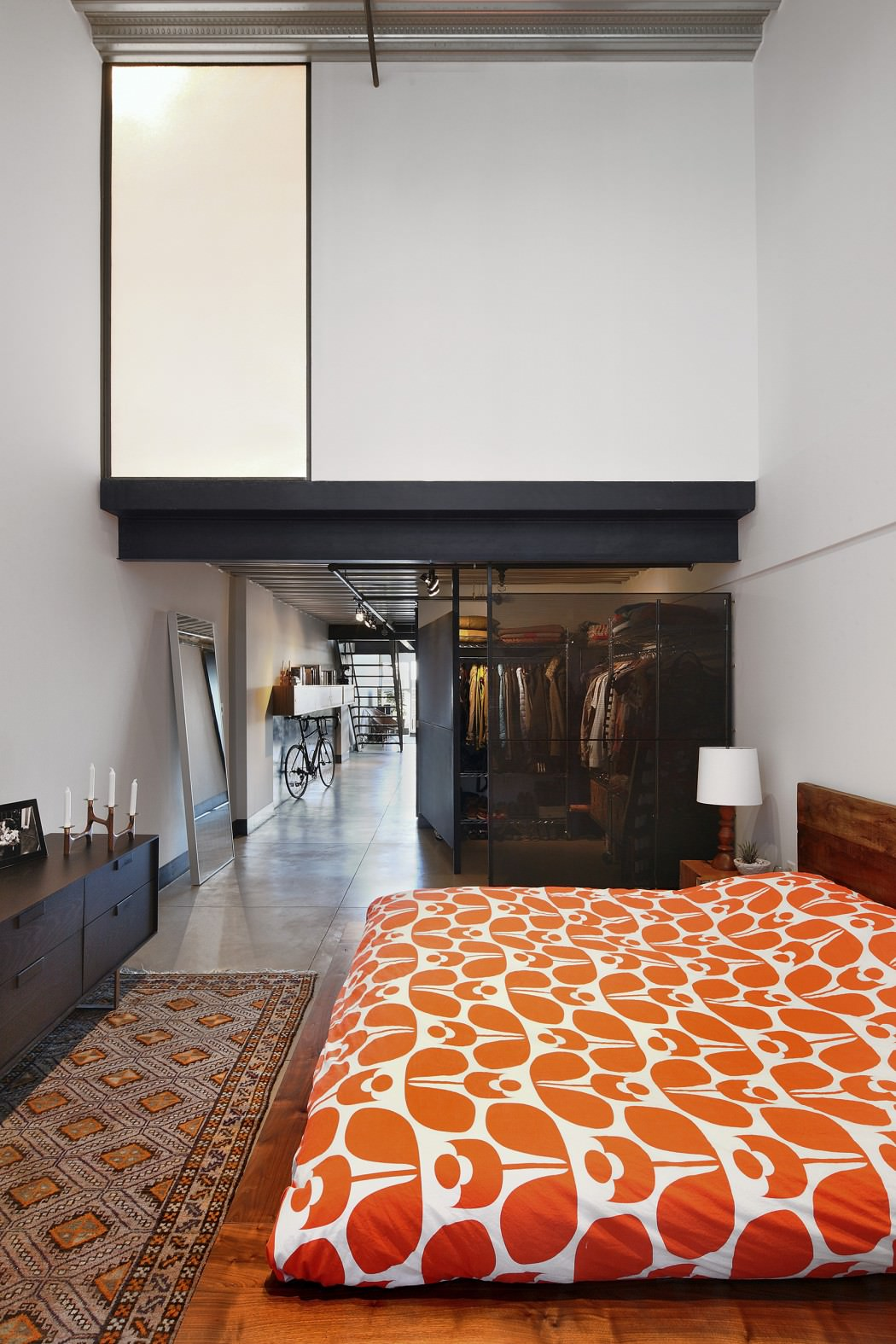 Capitol Hill Loft bedroom Apartment Gets Industrialized After A Modern
