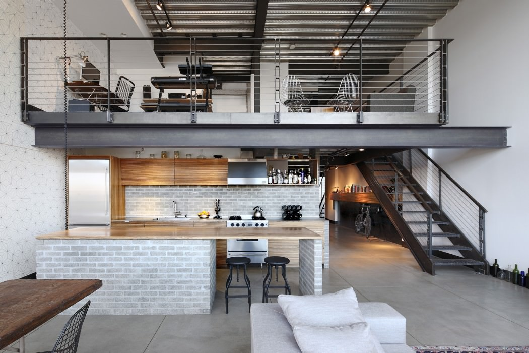 Capitol Hill Loft kitchen Apartment Gets Industrialized After A Modern