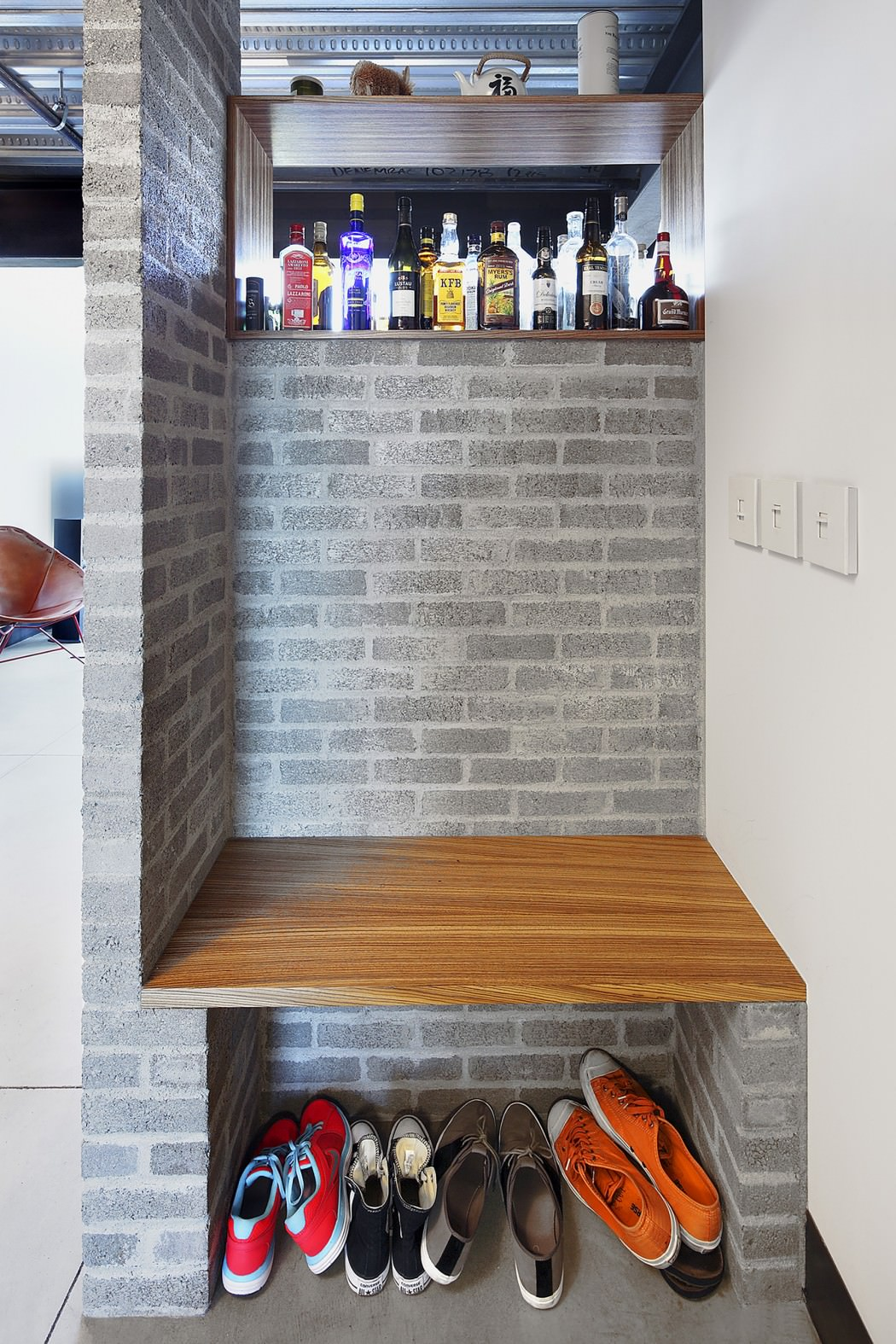 Capitol Hill Loft shoe storage Apartment Gets Industrialized After A Modern