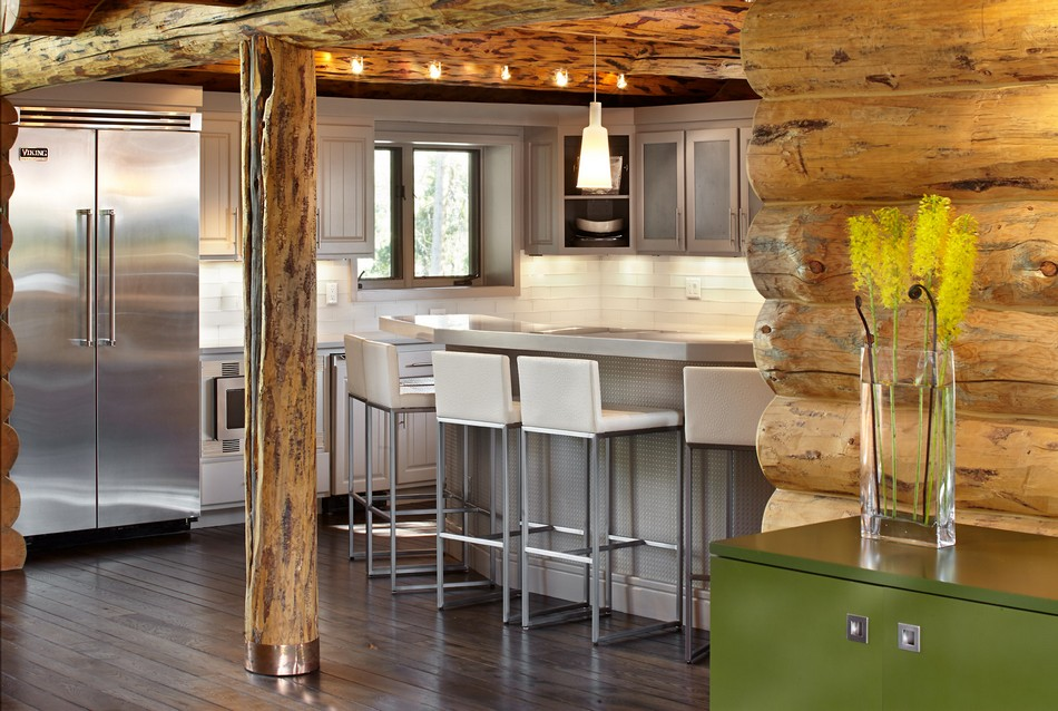 Colorado-log-cabin-kitchen