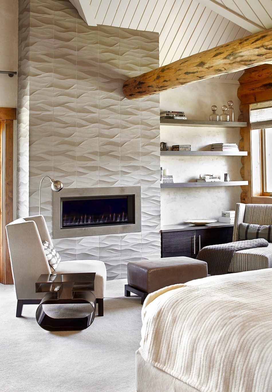 log home master bedrooms rustic log retreat blends modern accents and spectacular views 15927