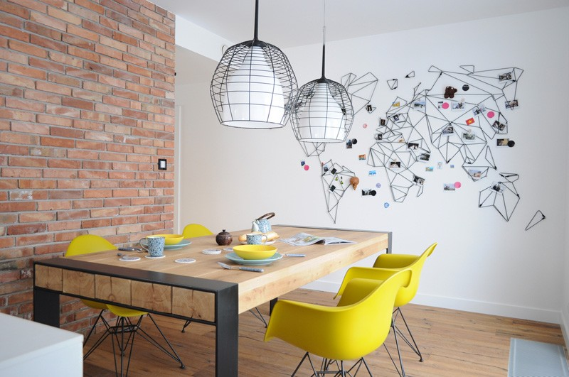 Colorful-apartment-in-Poland-dining-area