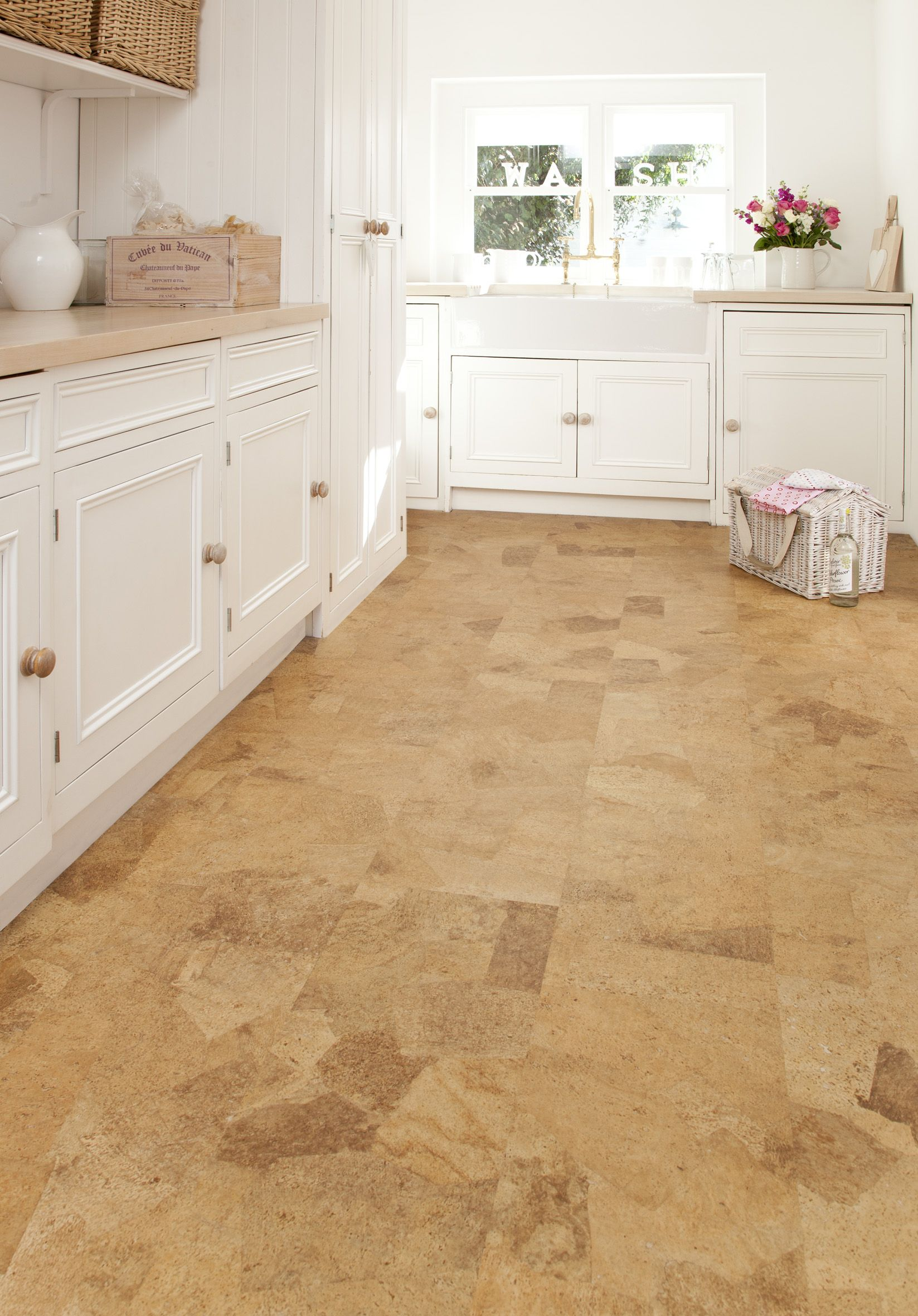 30 floor tile designs for every corner of your home cork floor kitchen dailygadgetfo Image collections