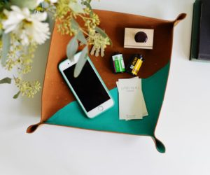 How To Cross Stitch A Leather Catchall