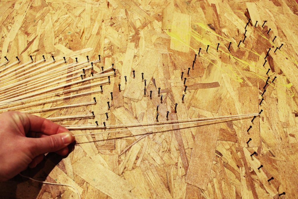 DIY Map String Art With An Industrial Vibe