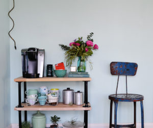 DIY Industrial Pipe Coffee Bar Cart