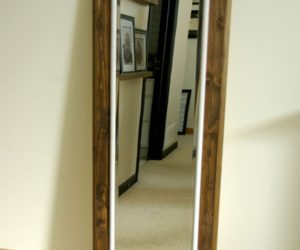 DIY Floor Mirror Frame