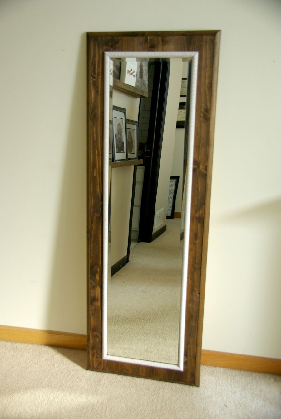Diy floor mirror frame jeuxipadfo Image collections