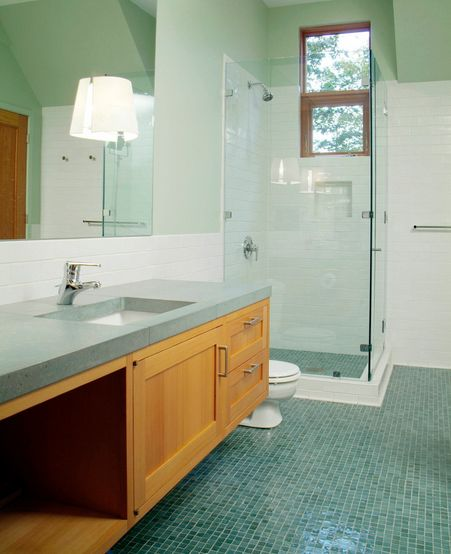 Glossy bathroom tiles