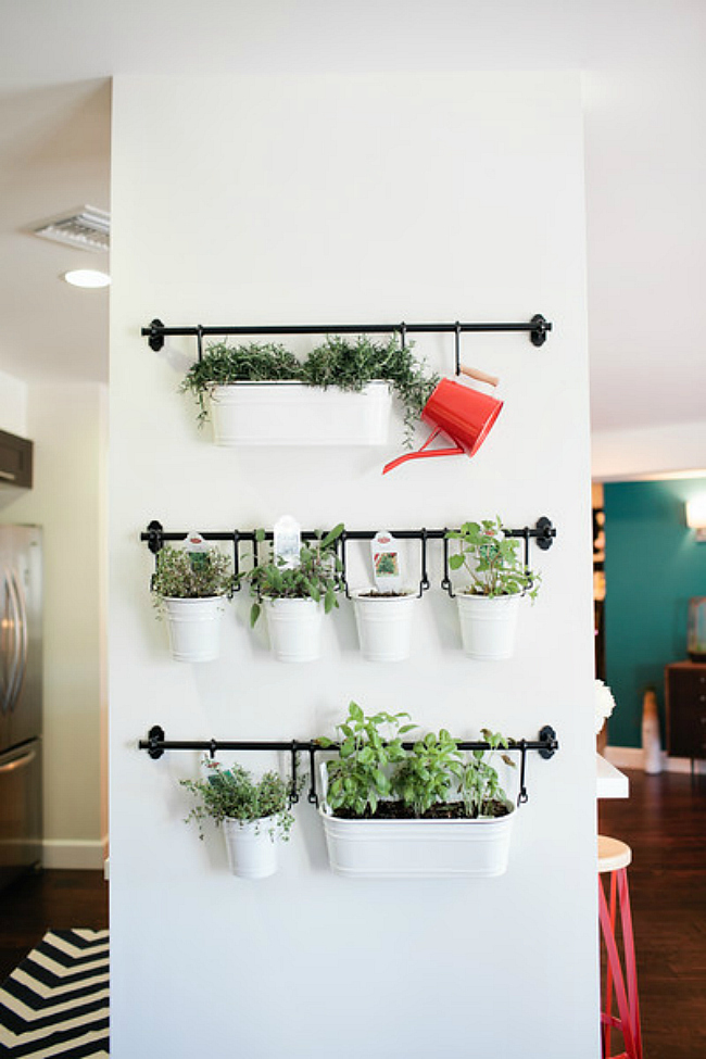 Indoor Herb Garden Ideas Part - 45: IKEA Storage Garden. IKEA Hanging Herbs