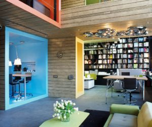Formal Factory Turned Into A Colorful Office And Showroom