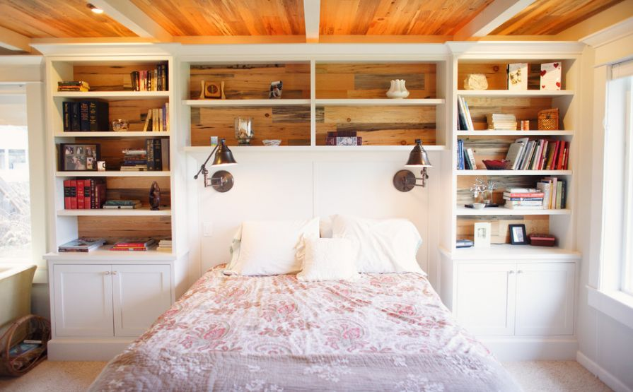 Headboard Shelf clever furniture combinations: bookcase headboards