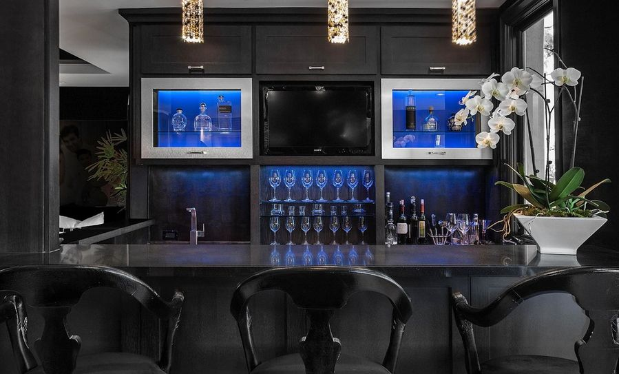 Merveilleux Basement Bar Design. Basement Bar Design E