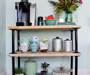 DIY Industrial Pipe Coffee Cart