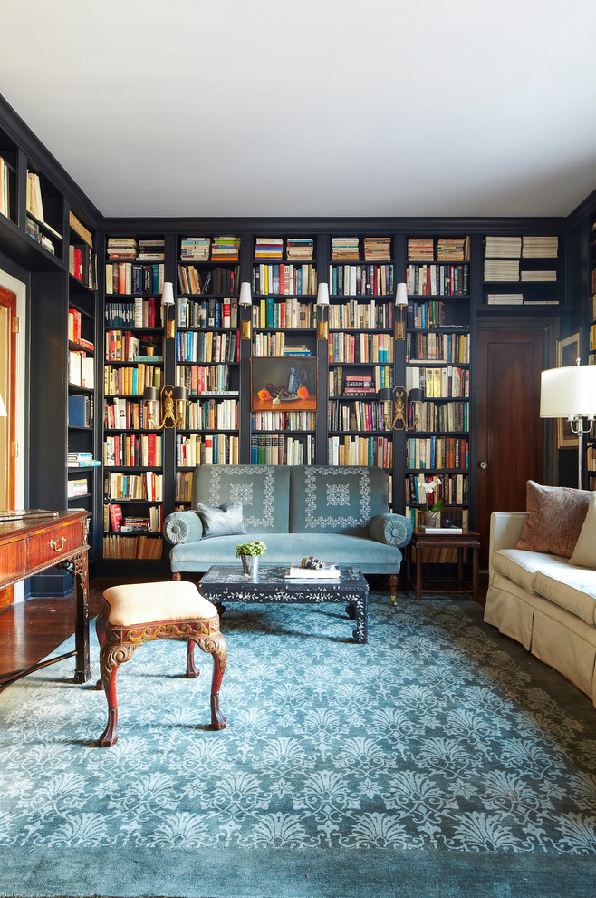 Make A Living Room A Library: Creating A Home Library That's Smart And Pretty