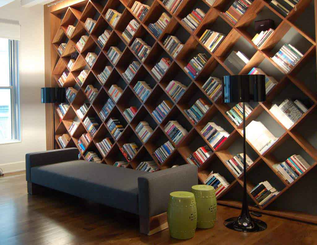 Install creative shelving.