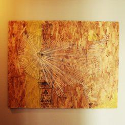 String art pattern - map