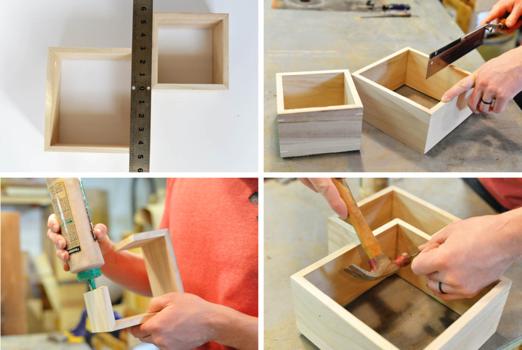 double box shelf tutorial