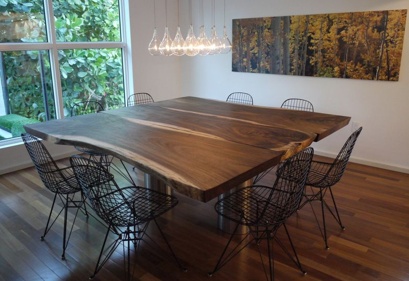 Dining Room Wooden Table And Chairs