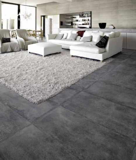 faux concrete floor
