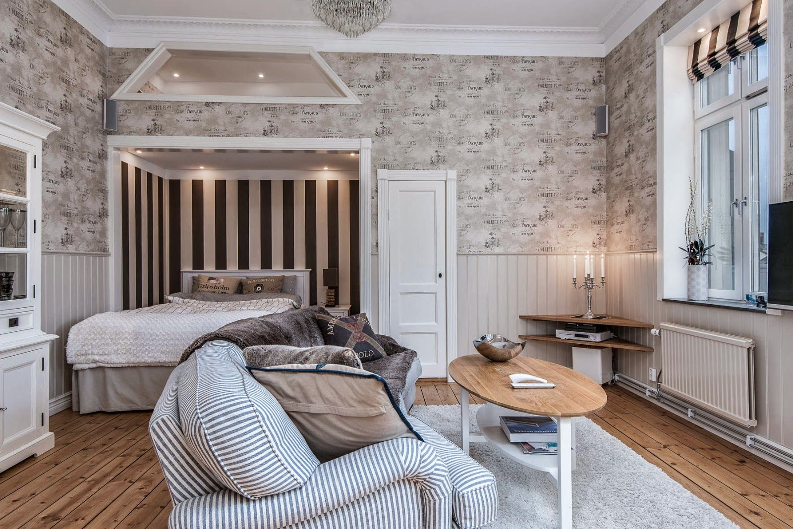 How to decorate around the bed in a small apartment for Appartement deco cocooning