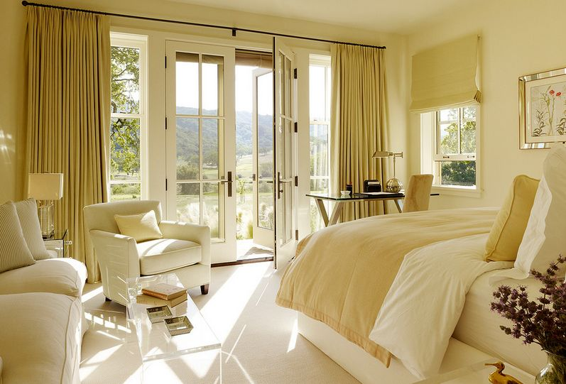View In Gallery Complement Your French Doors With Beautiful And Elegant Curtains
