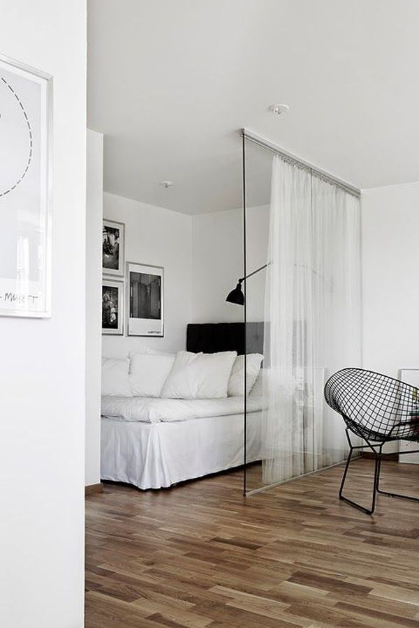 Studio Apartment Separation how to decorate around the bed in a small apartment