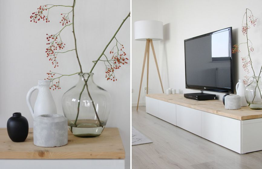 Ikea tv stand designs you can build yourself for Meuble mural tv ikea