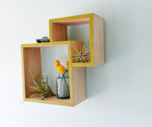 DIY Double Wall Box Shelf
