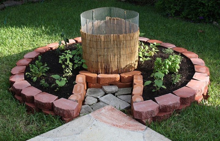 Gardening tips pt i diy raised beds for Brick flower garden designs