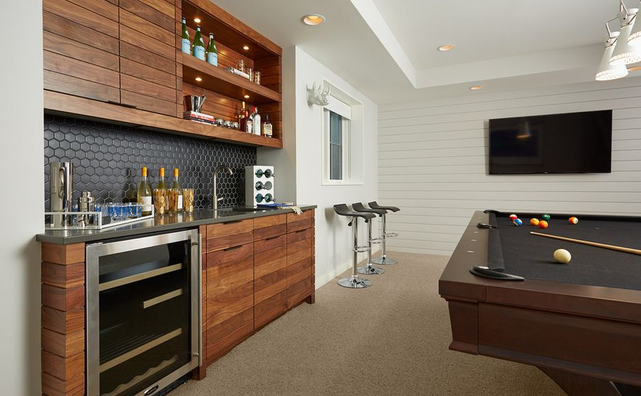 Long u0026 Lean. & Clever Basement Bar Ideas: Making Your Basement Bar Shine