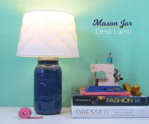 DIY Mason Jar Desk Lamp