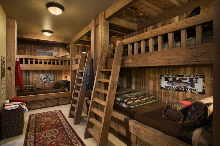 20 cool bunk beds that offer us the gift of style for Disegni di log casa stile ranch