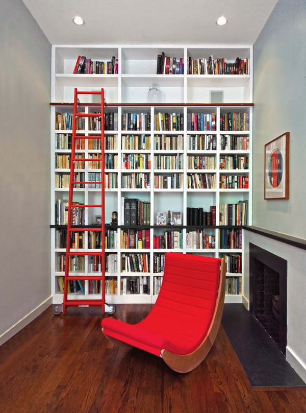 Consider the white space. & Creating a Home Library that\u0027s Smart And Pretty