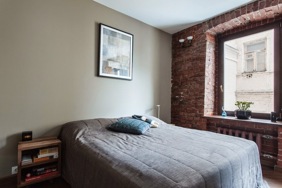 Renovated Studio Apartment Bedroom