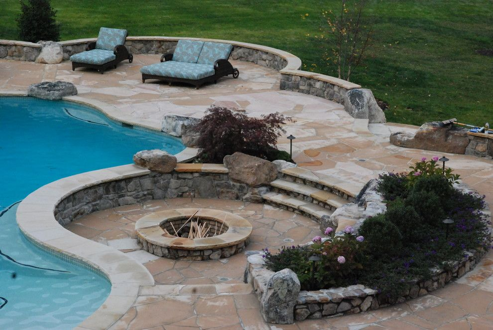 Swimming Pool Fire : Beautiful inspiring outdoor firepits
