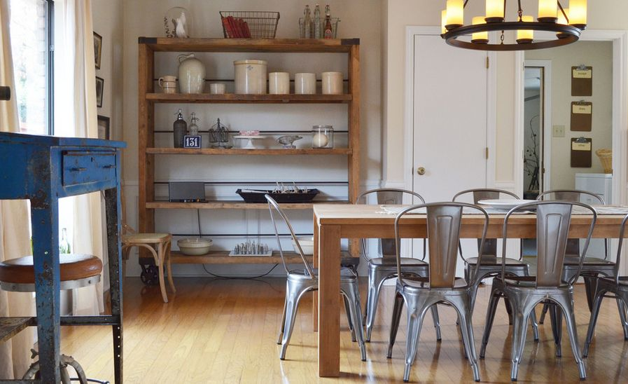 30 Ways To Create A Trendy Industrial Dining Room: Industrialize Your Dining Room With Metal Dining Chairs