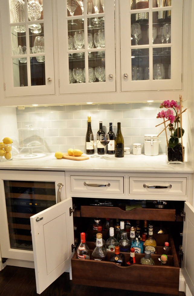 Custom Pullout Drawers. & Clever Basement Bar Ideas: Making Your Basement Bar Shine