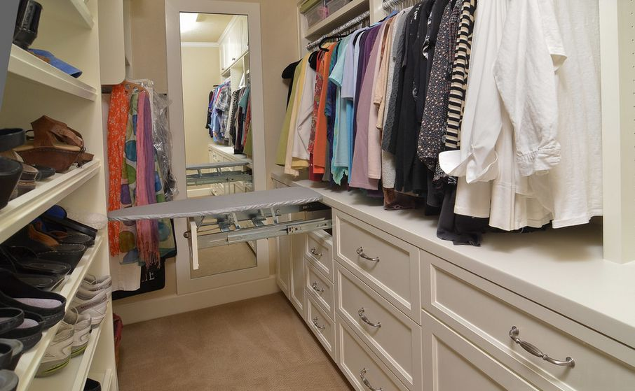 Genial Ironing Board Cabinet Extensions For Organized Laundry Rooms